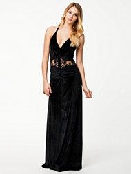 63591846 Kjøp lang svart fløyelskjole selskapskjoler på nett i nettbutikk